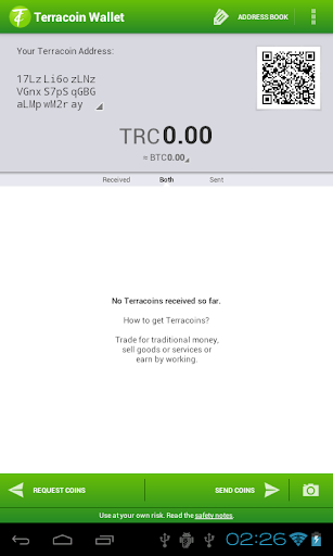 Terracoin Wallet