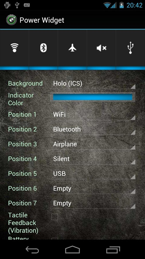Power Widget lite - screenshot