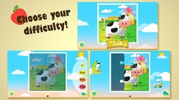 Screenshot of Kids Jigsaw Puzzles Farm Free