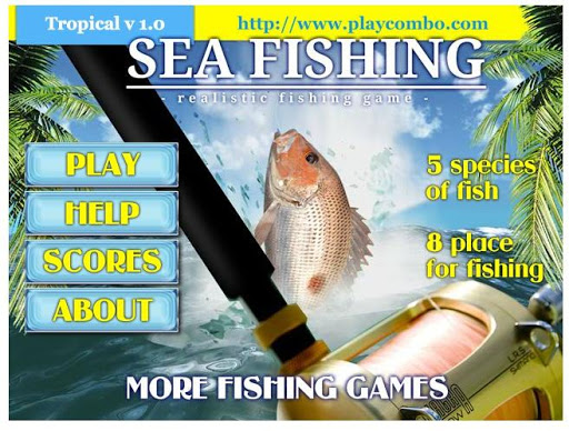 在海上捕鱼