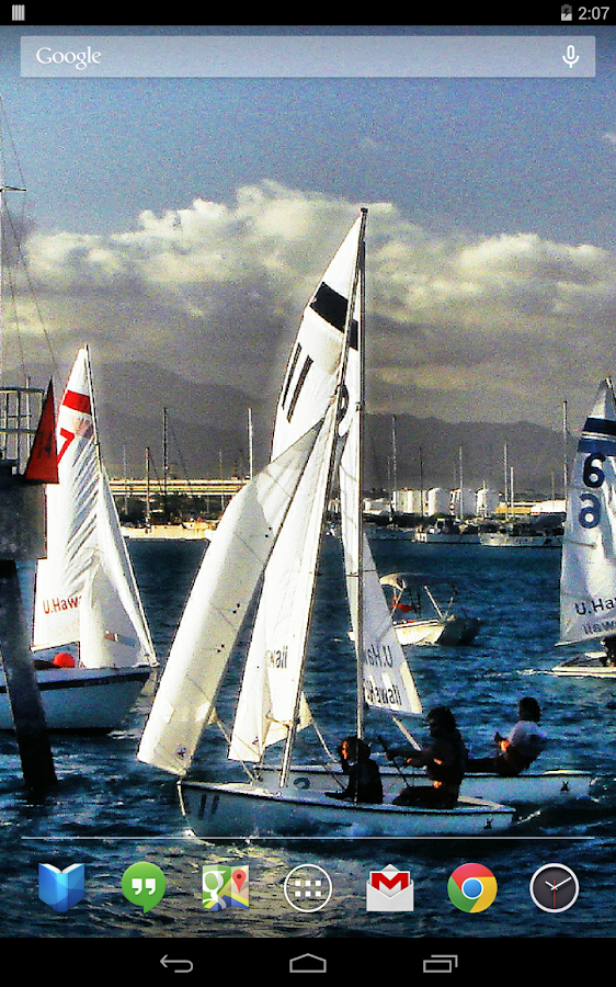 Sailboats Live Wallpaper- screenshot