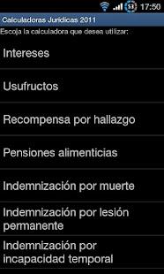 Calculadoras Jurídicas 2011