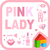 Pink Lady dodol launcher theme
