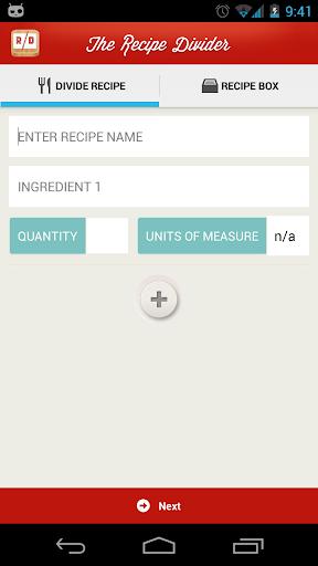 Recipe Divider