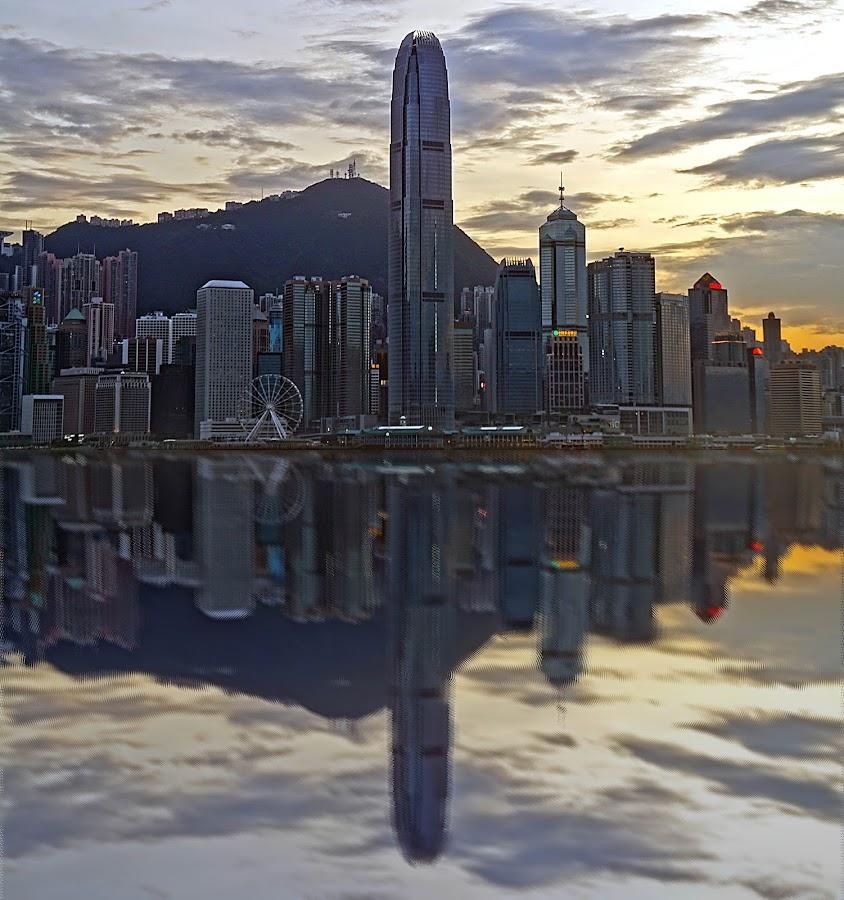 by Shalabh Sharma - City,  Street & Park  Skylines ( avenue of stars, hong kong, skyline, reflection, victoria harbour )