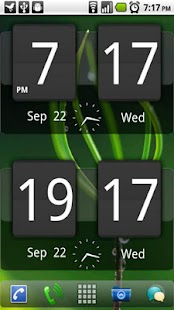Sense Analog Clock Widget Dark- screenshot thumbnail