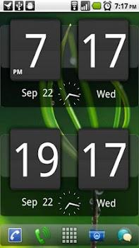Sense Analog Clock Widget Dark