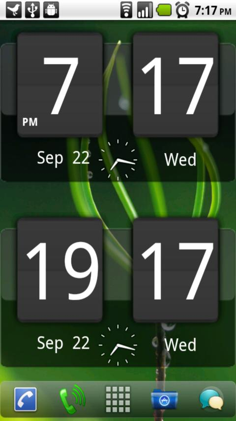 Sense Analog Clock Widget Dark- screenshot