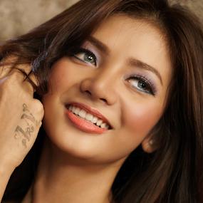 Indri's Smile by Kiki Achadiat - People Portraits of Women