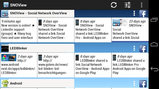 Social Network OverView Lite - screenshot thumbnail