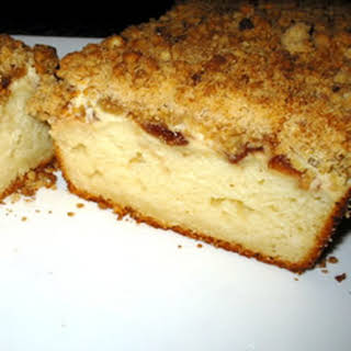 Cream Cheese-Filled Coffeecake With Fruit Preserves and Crumble Topping.