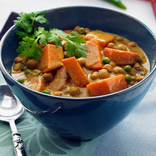 Sweet Potato and Chickpea Curry.