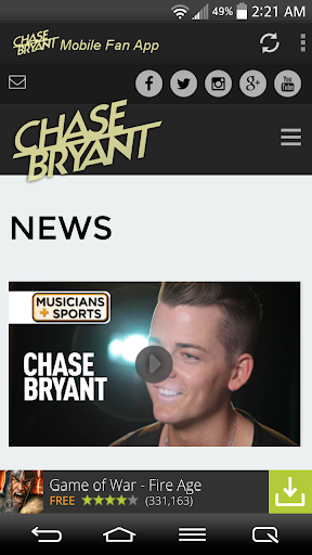 Chase Bryant Fans Mobile  screenshots 2