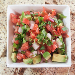Low-Fat Avocado-Tomato Salsa.