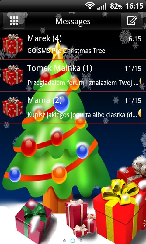 GO SMS Pro Christmas Tree - screenshot