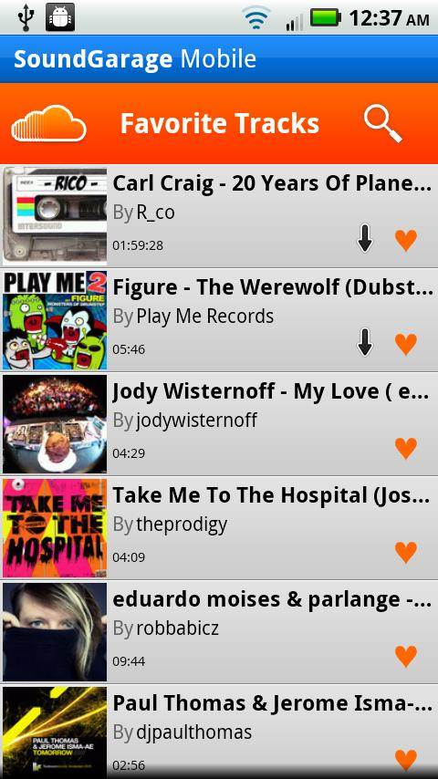 SoundGarage Pro for SoundCloud - screenshot