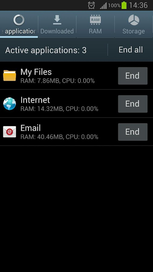 Task Manager Note 2 Shortcut - screenshot