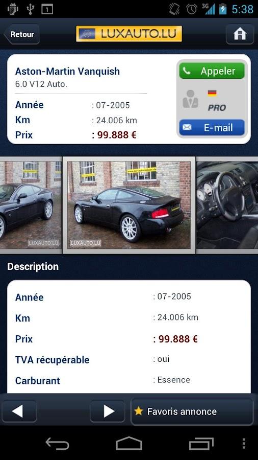 Luxauto– Capture d'écran