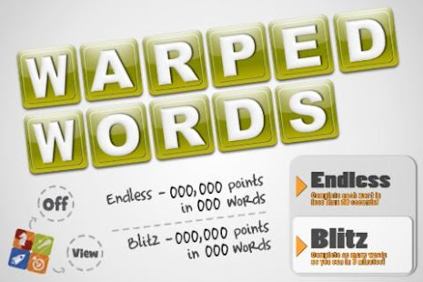 Warped Words- screenshot thumbnail
