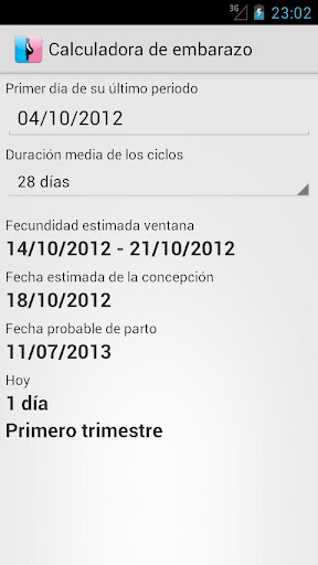 dc8a0c1f9 Calculadora de embarazo - Aplicaciones en Google Play