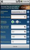 Screenshot of Calcolo IMU 2012