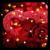 Roses Hearts HD live wallpaper