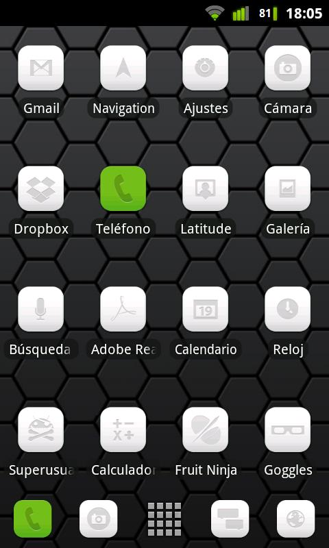 LauncherPro Miui White Pack- screenshot