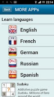Screenshot of French phrasebook (free)