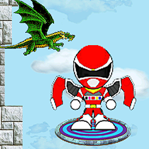 Flying red rangers jump game for PC and MAC