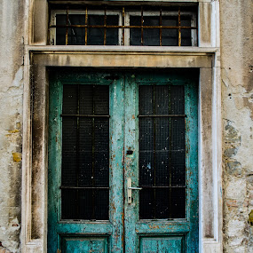 Old Green Door by Nina Kriznic - Buildings & Architecture Other Exteriors ( old, green, entry, street, door, architecture, city,  )