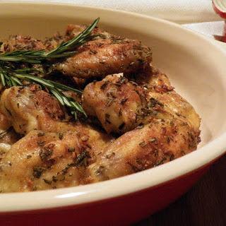 Rosemary Garlic Wings Recipe