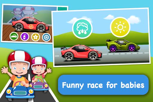 婴儿种族 - 建立你的汽车,并在比赛!