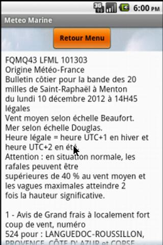 Meteo Marine - screenshot
