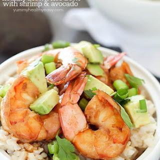 Healthy Brown Rice Bowl with Shrimp & Avocado Recipe
