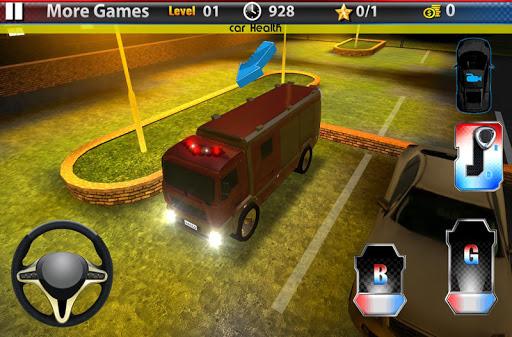 卡车停车3D:消防车