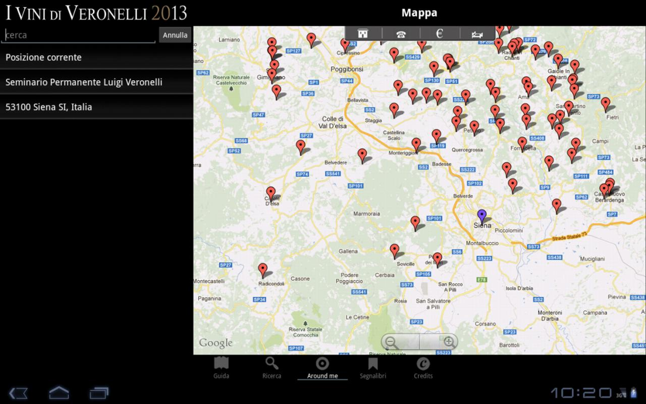 I Vini di Veronelli 2013 - screenshot