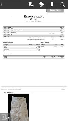 N2F Expense report demo - screenshot