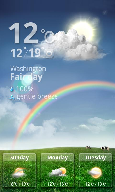 MXHome Theme Weather - screenshot