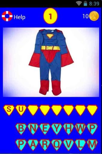 Super Heroes Costume Quiz