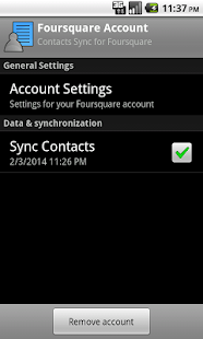 Contacts Sync for Foursquare - screenshot thumbnail