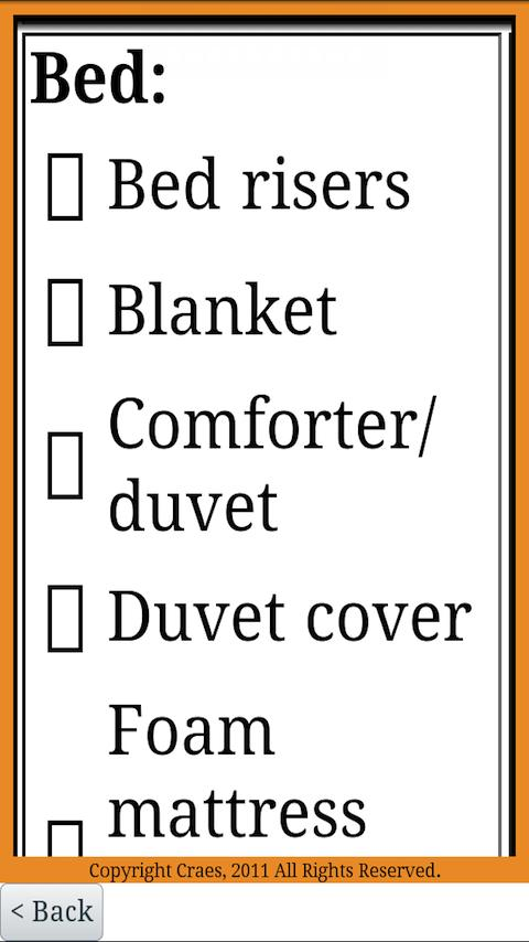 The College Checklist for Guys- screenshot