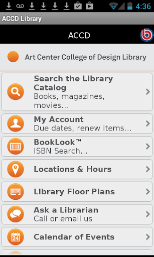 Art Center Library Mobile