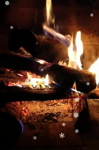 Fireplace Snow Video Wallpaper