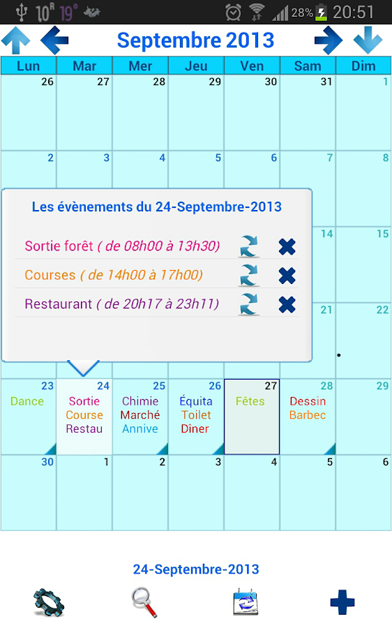 Mon Calendrier Plus - screenshot