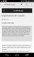 Screenshot of Un Texte Un Jour