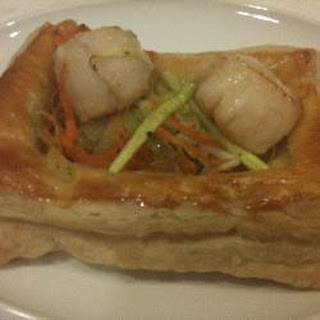 Vol-au-Vents with Scallops.