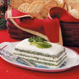 Pesto Cream Cheese Spread.
