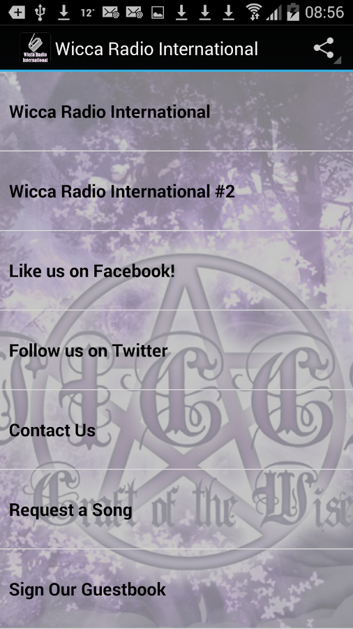Wicca Radio International- screenshot