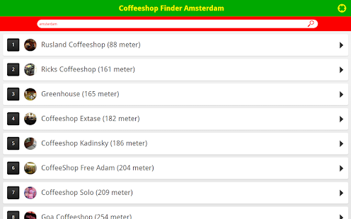 Coffeeshop Finder Amsterdam- screenshot thumbnail