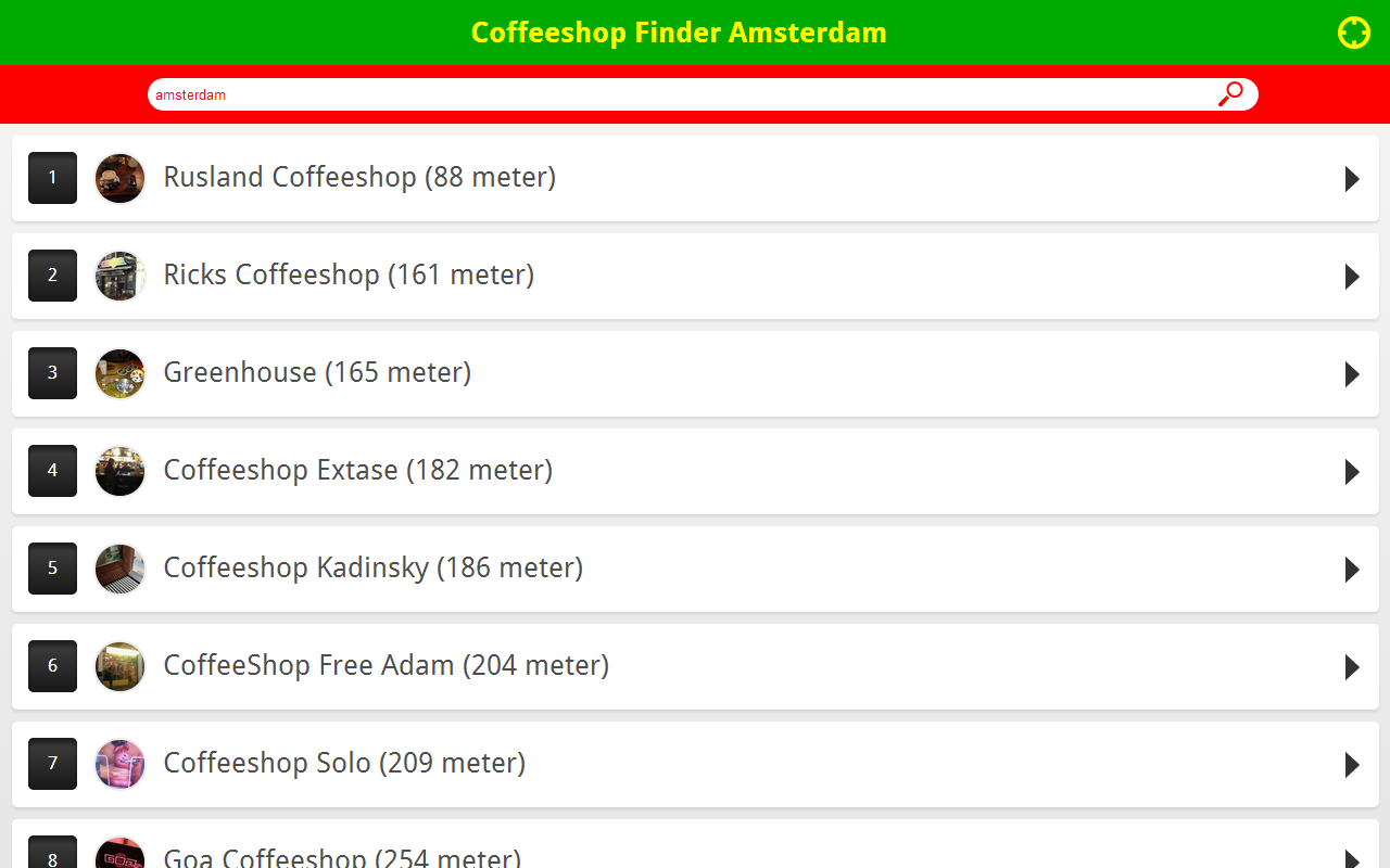 Coffeeshop Finder Amsterdam- screenshot
